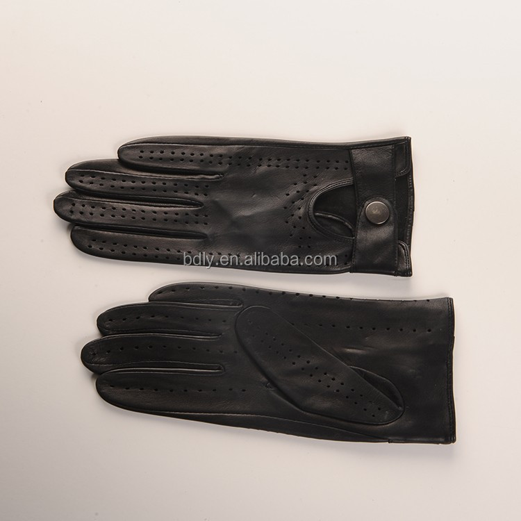Lady full fingers driving leather glove,Women leather driving gloves