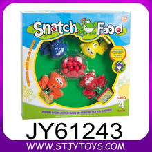 Intelligent frog snatch food game plastic board game for kids