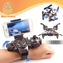 dron 2017 foldable drone watch controlled wifi fpv racing mini drone with hd camera