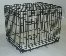 Pet cat cage, dog cage, folding wire pet cage.