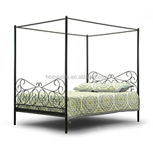 Antiquity Adult Metal Contemporary Canopy Bed