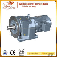 R Series Single / 3 Phase Gear Motor 220V / Gear Box for Elevator