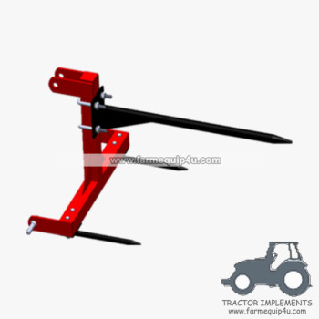 BS1000 Tractor mounted 3point Bale Spear with CE ,3point hay equipment for compact tractors