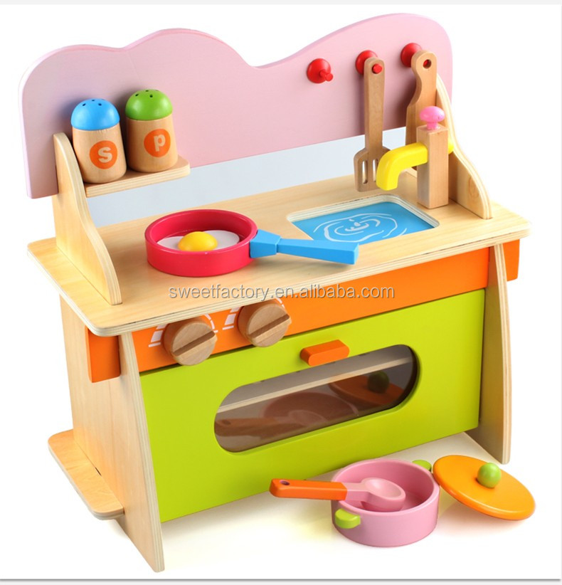 Kids kitchen set toy wooden toy