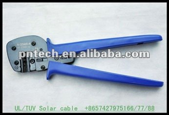 Solar cable terminals and connectors solar mc4 crimping tool