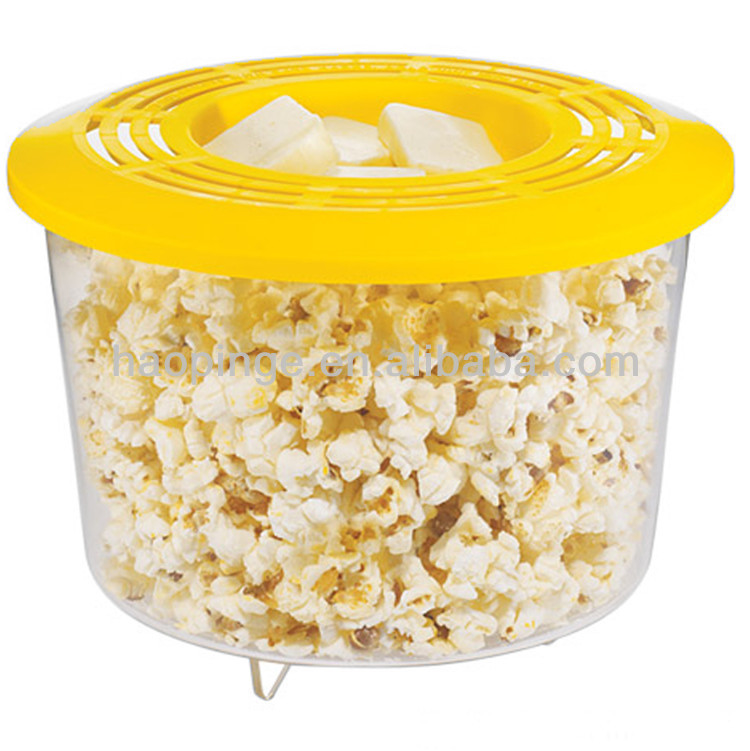 plastic transparent Microwave popper popcorn bowl
