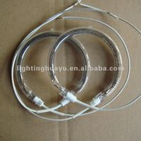 Quartz oven heating element