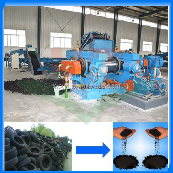 Advanced car tire recycle production line / small business tyre powder making machine