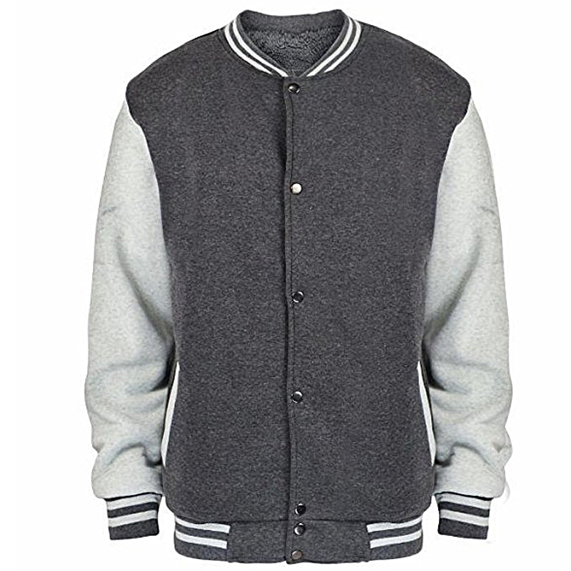 Newly custom design applique logo fleece baseball varsity jacket