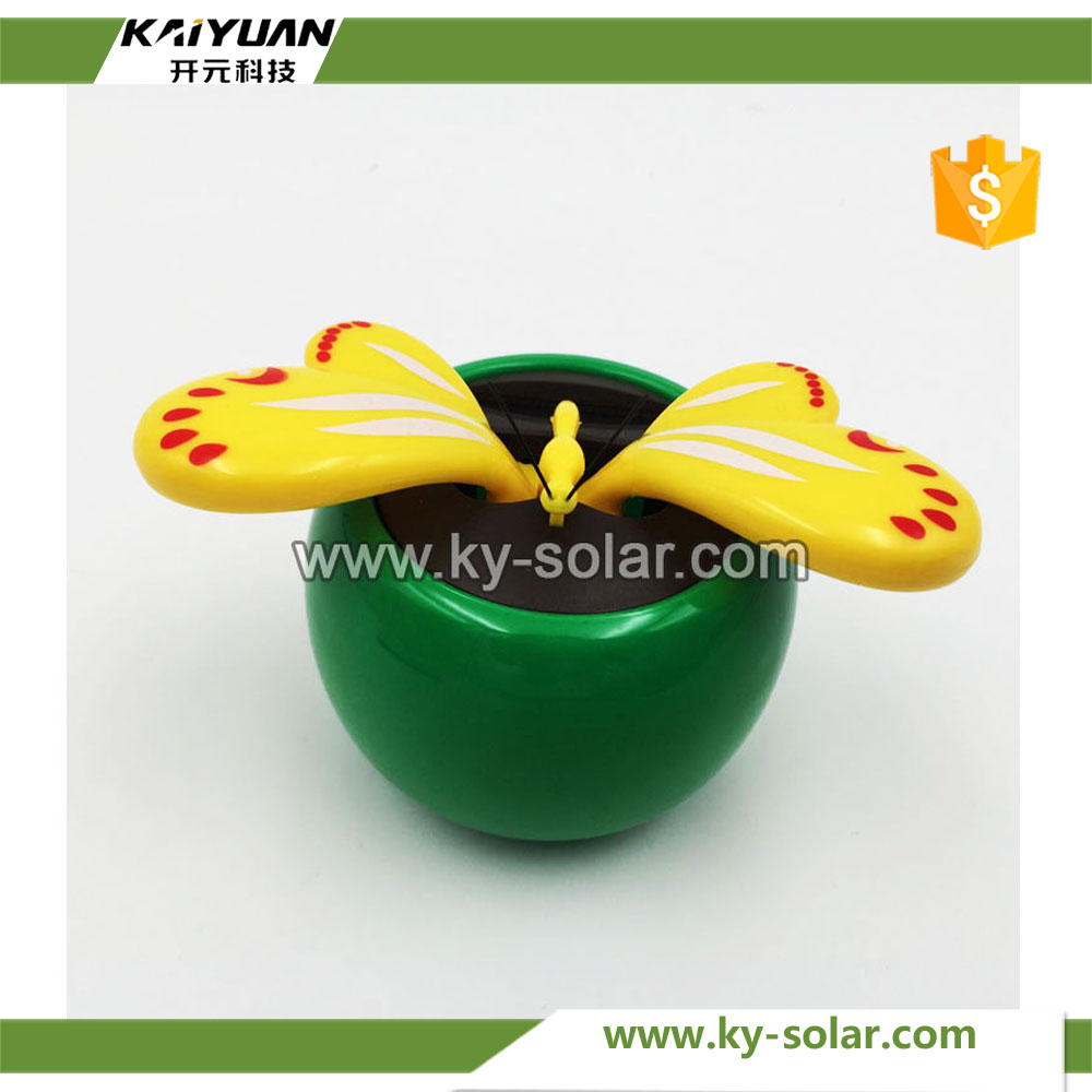 Sunpower plastic solar powered dancing flowers flip flap solar flower