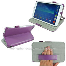 Folio stand leather case for Samsung Galaxy Tab 3 7.0&8.0&10.1 with handstrap