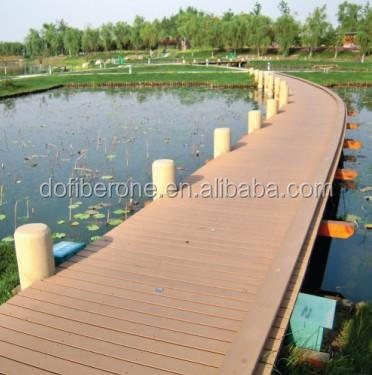 Wpc interlocking decking tiles made of plastic composite materials