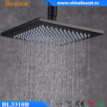 Beelee Oil Rubbed Bronze Black 10 inch Rainfall Square Stainless Steel Shower Head