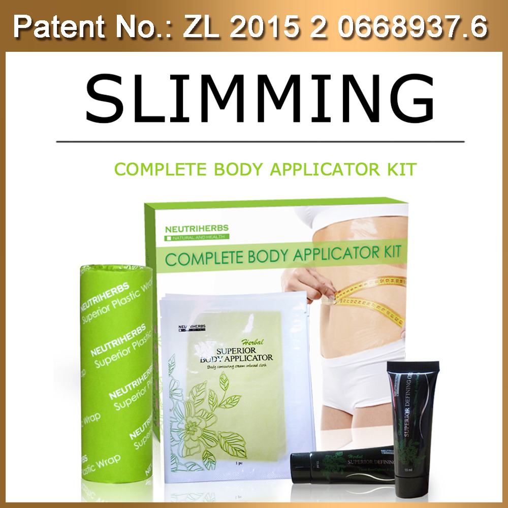 Top Sell Best Skinny Stomach Body Wraps Kit With Defining Gel Body Contouring Cream Weight Loss Ultimate Applicator Body Wrap