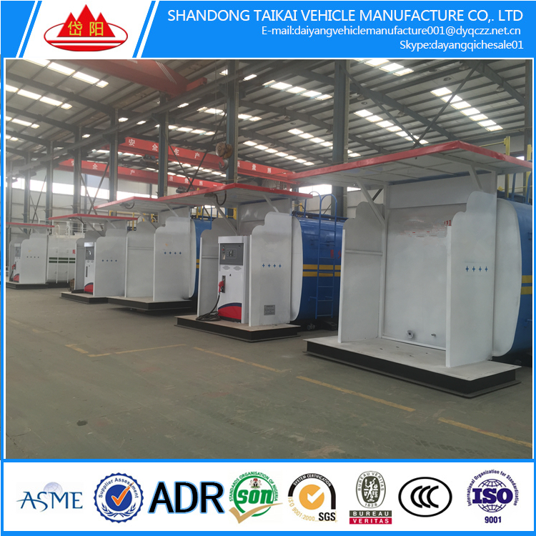 popular 20FTGP and 40FTHQ gasoline diesel mobile fuel station manufacturer,Incidental refueling systems and pump