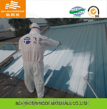 Metal roof waterproof spray paint with heat insulation