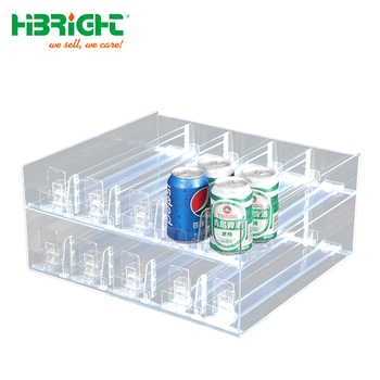 retail plastic grocery system bottle drink shelf pusher