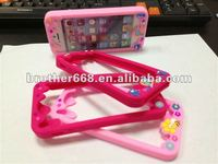 2013 newest promotion silicone case/pretty high quality and fashion design silicone phone frame with ROHS