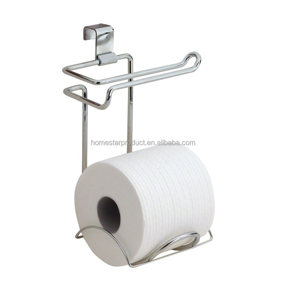Storage Wire Rack Toilet Paper Roll Metal Holder And Steel