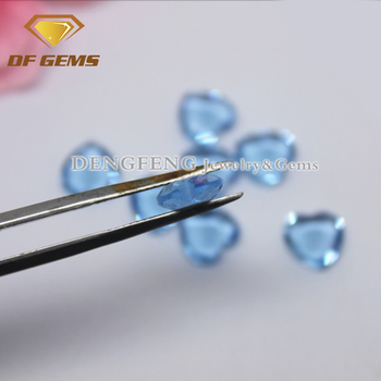Synthetic gems glass heart lab created topaz stones, gem stones
