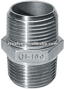 SS304 Stainless Steel Pipe Hexagon Nipple ,High quality SS304,NPT BSP BSPT DIN2999