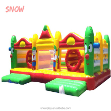 SNOW 5*6M inflatable bouncer , inflatable bouncy castle with inflatable slide , inflatable jumping castle
