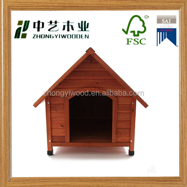 2016 Hot Sale High Quality Outdoor Wholesale 94x89x89 Large Wood Dog House