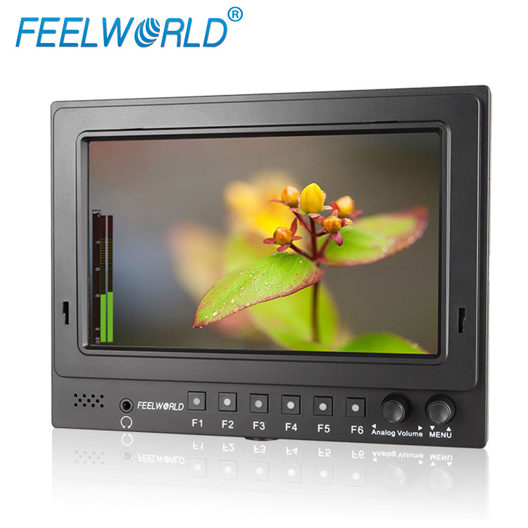 "Feelworld 7"" hd sdi broadcasting monitor with nine grid image and embedded audio for director video shooting and filming"