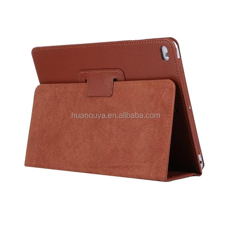 New Arrives Black Tan Smart Stand Wallet Folio Flip Cover Tablet Leather Case For iPad Air 2 With A Pocket For File China