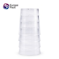 Hight quantity custom clear plastic food disposable container shot whiskey glass