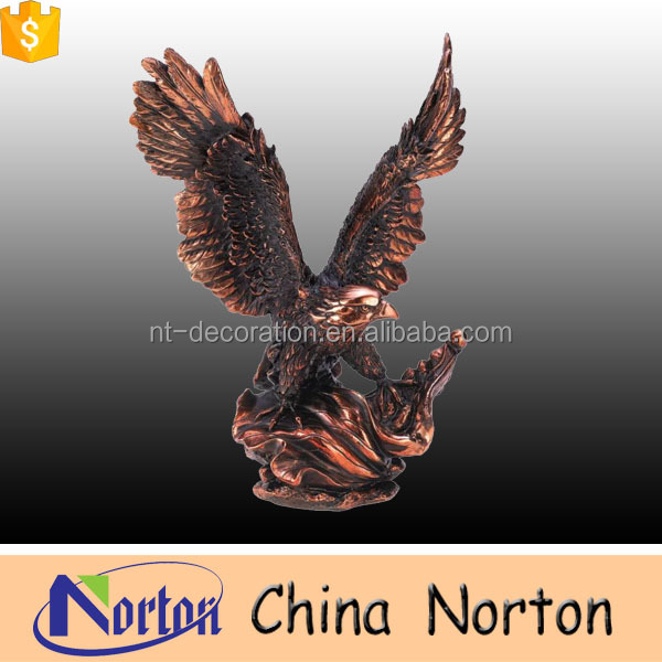 Small bronze casting eagle sculptures for sale NTBH-D018Y