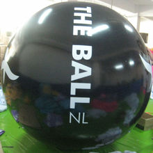 1.8m black inflatable life size balls with logo printed for promotion