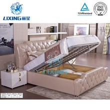 Storage hydraulic lift mechanism bed fittings low height bed