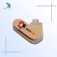 Promotional design logo plain wooden flash drive 3.0 custom usb stick