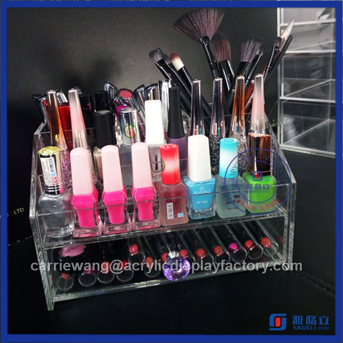 Factory high transparent acrylic cosmetic organizers / counter lipstick display