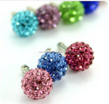 Full diamond set phone headset dust plug