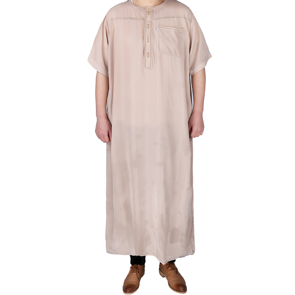 summer muslim short sleeve men moroccan kaftan thobe