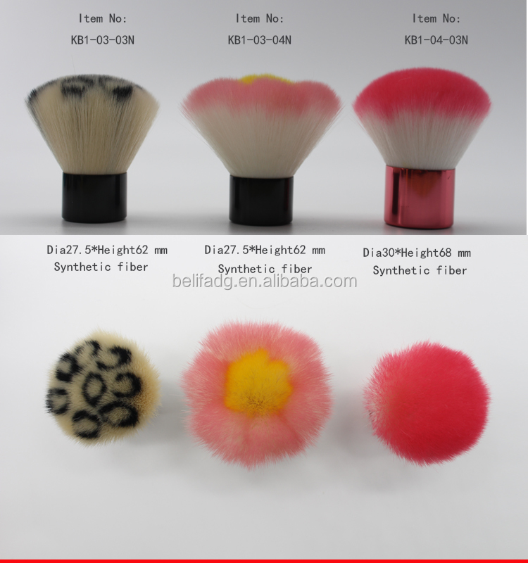 Belifa hot sales nylon hair bling kabuki brush wholesale