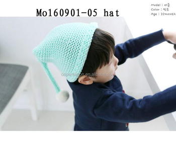 Hot sale kids knitted cute beanies hat baby caps birthday hat