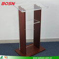 Wood Podium with clear acrylic front panel Public Speaking Stand
