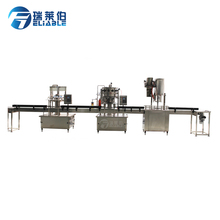 Small filling plant manufacturer line linear type glass bottle small scale beer bottling machine with caps