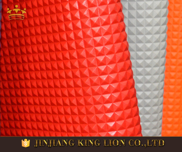 Quality holographic pvc vinyl upholstery fabric material for shoes and bag