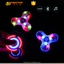 Rechargeable Bluetooth hand spinner gyro, LED flash for finger spinner