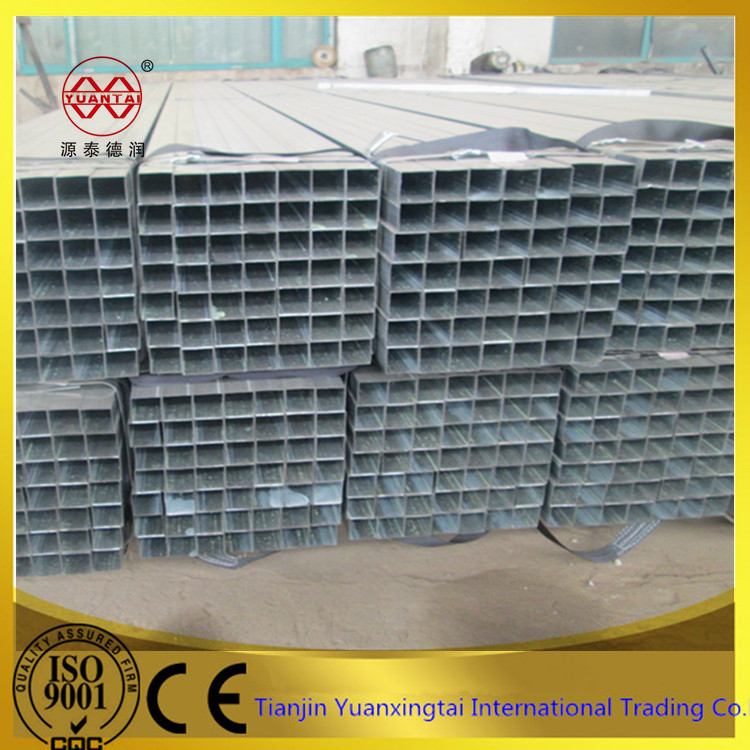 raw material galvanized rectangular hollow section iron / steel pipe / tube