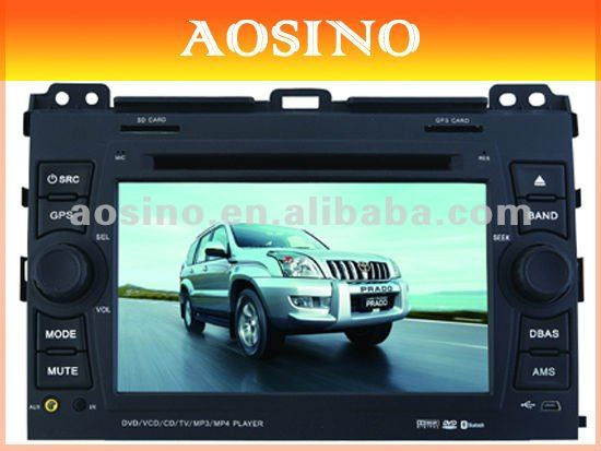 "Aosino 7"" double din specail for TOYOTA PRADO 120 Series 2002-2009 car dvd player / car radio / car audio with GPS navigation"