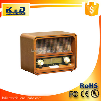 2017 Popular Style Classic Wooden Portable Radio for Wholesale