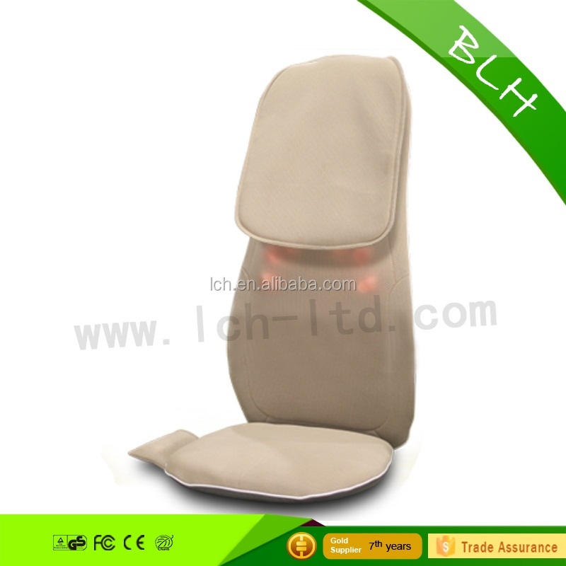 Vibrating car home-used seat Body properties massager with heating shiatsu and kneading