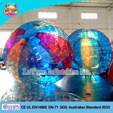Wholesale colorful cheap zorb balls/plastic human sized hamster ball for kids and adult