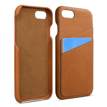 Fully cover phone case for iPhone 8 card holder genuine leather case
