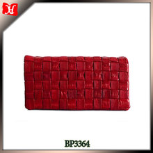 Elegant Genuine Eel skin Ladies Checkbook Wallet Slim Design with Silk touch Eel skin Leather